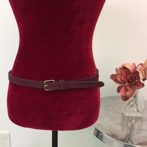 NWOT LOFT Purple Genuine Leather Belt